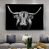 KWzEQ Leinwand Malerei Highland Cattle Poster und