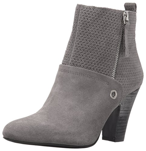 Nine West Women's Gowithit Suede Boot, Grey, 5 M US