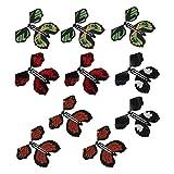 QIEZI Juguete mágico de Mariposa voladora, Juguete de Mariposa de Cuerda Duradero, Mariposa con Banda de Goma, Accesorio diseño Informal, Estilo Aleatorio