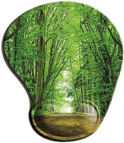 Mousepad with Dealing full price reduction Wrist Support Deep In Green The Max 68% OFF Thick Veget Forest