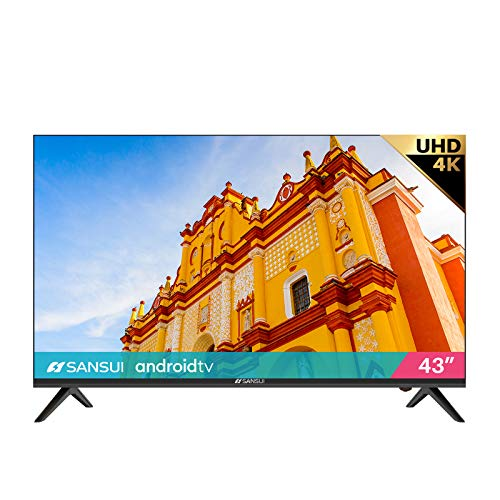 SANSUI ES43S1A, 43 inch UHD HDR Smart TV with Google Assistant (Voice Control), Screen Share, HDMI, USB...