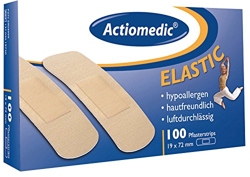 Actiomedic ELASTIC Pflasterstrips, 19 x 72 mm, Pack à 100 Stück