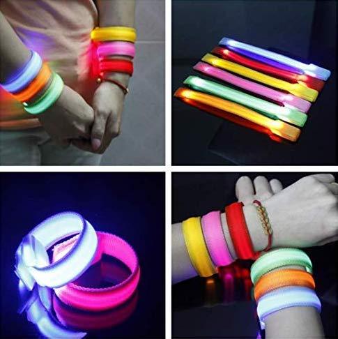 Pulsera LED que brilla con luz intermitente para arriba Safty Light Sport Brazalete para fiesta y correr, caminar, ciclismo, concierto, camping, deportes al aire libre, color al azar, paquete de 5