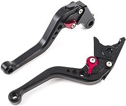 MOTO Frenos y embrague CNC Corto palanca Ajustable aluminio para sport bike HONDA CBR 600 F2,F3,F4,F4i CBR900RR CB599/CB600 HORNET CB919 VTX1300 NC700 S/X un par (F18/H626) SPL028 (BLACK)