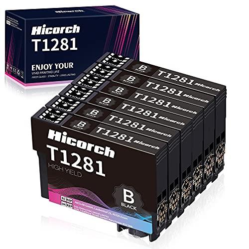 Hicorch Tinta T1281 Negro para Epson T1281 Multipack Compatible con Epson Stylus S22 SX125 SX130 SX235W SX425W SX435W SX438W SX445W Office BX305 BX305F(6 Negro)