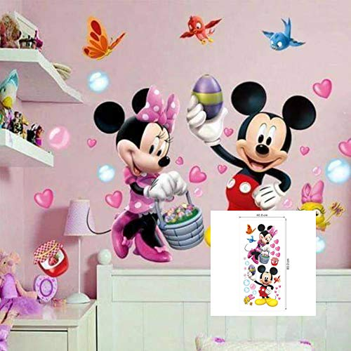 Kibi Pegatinas Infantiles Pared Minnie Pegatinas Decorativas Pared mickey Mouse Stickers Pared...