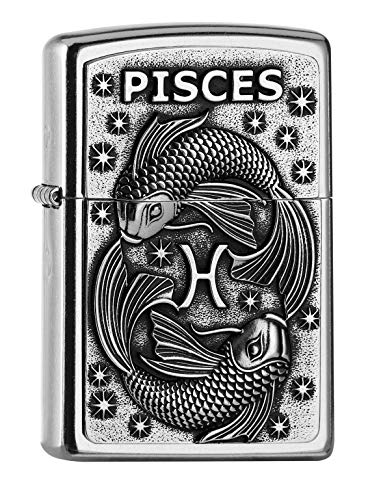 Zippo PL 207 Pisces Tierkr. V19 Feuerzeug, Messing, Design, 5,83,81,2