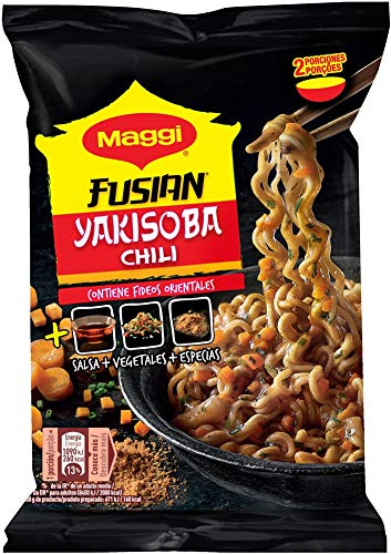 Maggi - Yakisoba Chili Fideos - 120 g - [Pack de 8]