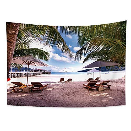 Miueapera Tourist Coast Tapiz Tapiz de palma Tapiz de playa Tapiz de playa Tapiz reclinable Tapiz de Hawaii Tapiz tropical Sala de estar Dormitorio Dormitorio Regalo de cumpleaños 100x70cm