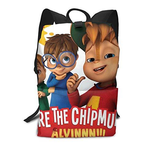 Alv-in And The Chi-pmunks Zaino per Ragazze Leggero Scuola Bookbag Grandi Dimensioni con Spalla Regolabile 29L* 15W* 40H cm