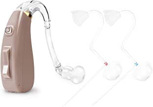 Banglijian Hearing Amplifier Rechargeable Ziv-201P with 4 Channels, Layered Noise Reduction, Adaptive Feedback Cancellation, 2 Types of Sound Tubes