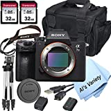 Sony a7 III Full-Frame Mirrorless Interchangeable-Lens Camera with 3-Inch LCD (Body Only), Tripod, Case, and More (11pc Bundle)