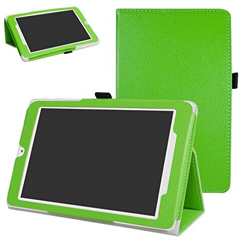 MAMA MOUTH Alcatel OneTouch Pixi 3 Funda, Slim PU Cuero con Soporte Funda Caso Case para 8' Alcatel OneTouch Pixi 3 8 3G Tablet PC,Verde