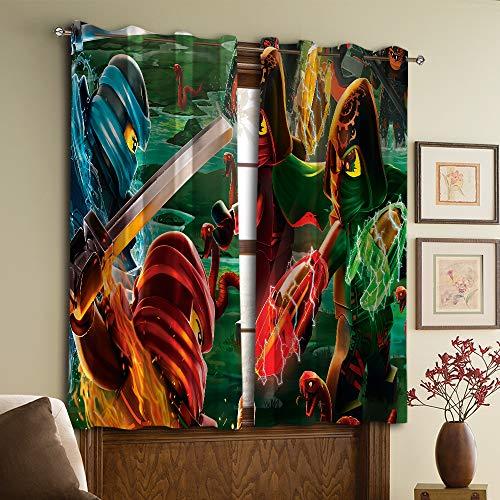 Schlafzimmer-Vorhang The Ninjago Movie für Wohnzimmer oder Schlafzimmer W55 x 45 L