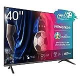 Hisense FHD TV 2020 40AE5500F - Smart TV Resolución Full HD, Natural Color Enhancer, Dolby Audio, Vidaa U 2.5 con IA, HDMI, USB, Salida auriculares