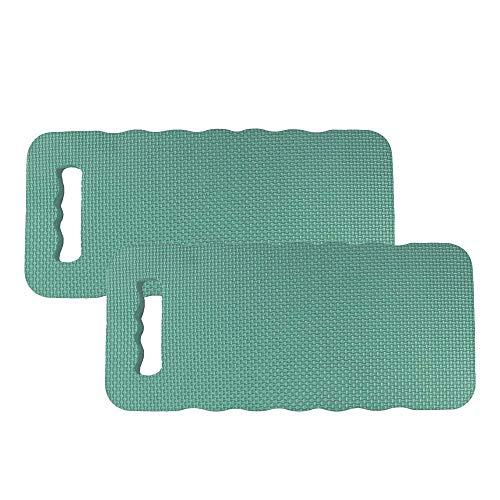 com-four® 2X Kniekissen für den Garten - Kniematte für die Gartenarbeit - Kniepolster - Knieschutzmatte wasserbeständig, wärmedämmend (02 Stück - Kniekissen)