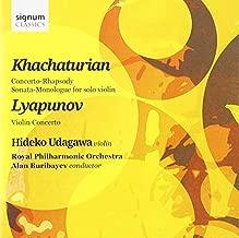 Khachaturian: Concerto-Rhapsody in B flat; Lyapunov: Violin Concerto by Hideko Udagawa