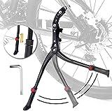 STAY GENT Pata de Cabra para Bicicleta, Aluminio Soporte Ajustable del Retroceso de Bici Caballete Bicicleta con Llave Hexagonal C