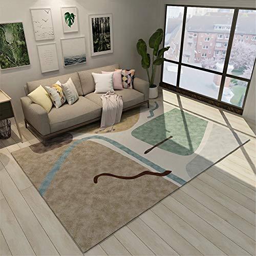 Mobiliario para El Hogar Alfombra Rectangular Grande De Estilo Europeo Simple Adecuada para Sala De Estar Dormitorio Manta De Noche 80x120cm