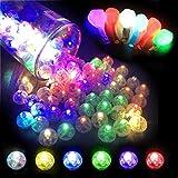 100pcs LED Balloon Light Multicolor Waterproof Mini Round Balls Lights Flash Ball Lamp for Paper Lantern Lamp Balloon Birthday Party Wedding Decoration