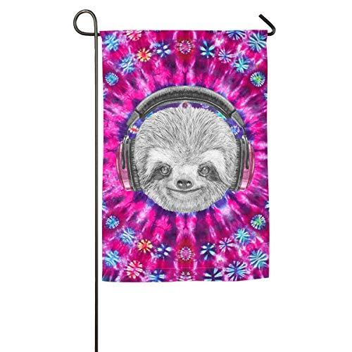 jiaxingdalin DJ Portrait mit lustiger Krawatte Dye Garden Yard Flagge Willkommen Haus Flagge Banner für Patio Rasen Outdoor Home Decor FLAG-715