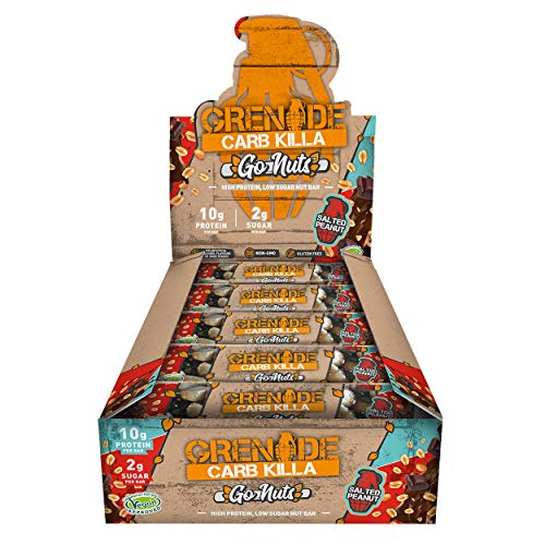 Grenade Carb Killa Go Nuts Salted Peanut, 40g, Pack of 15