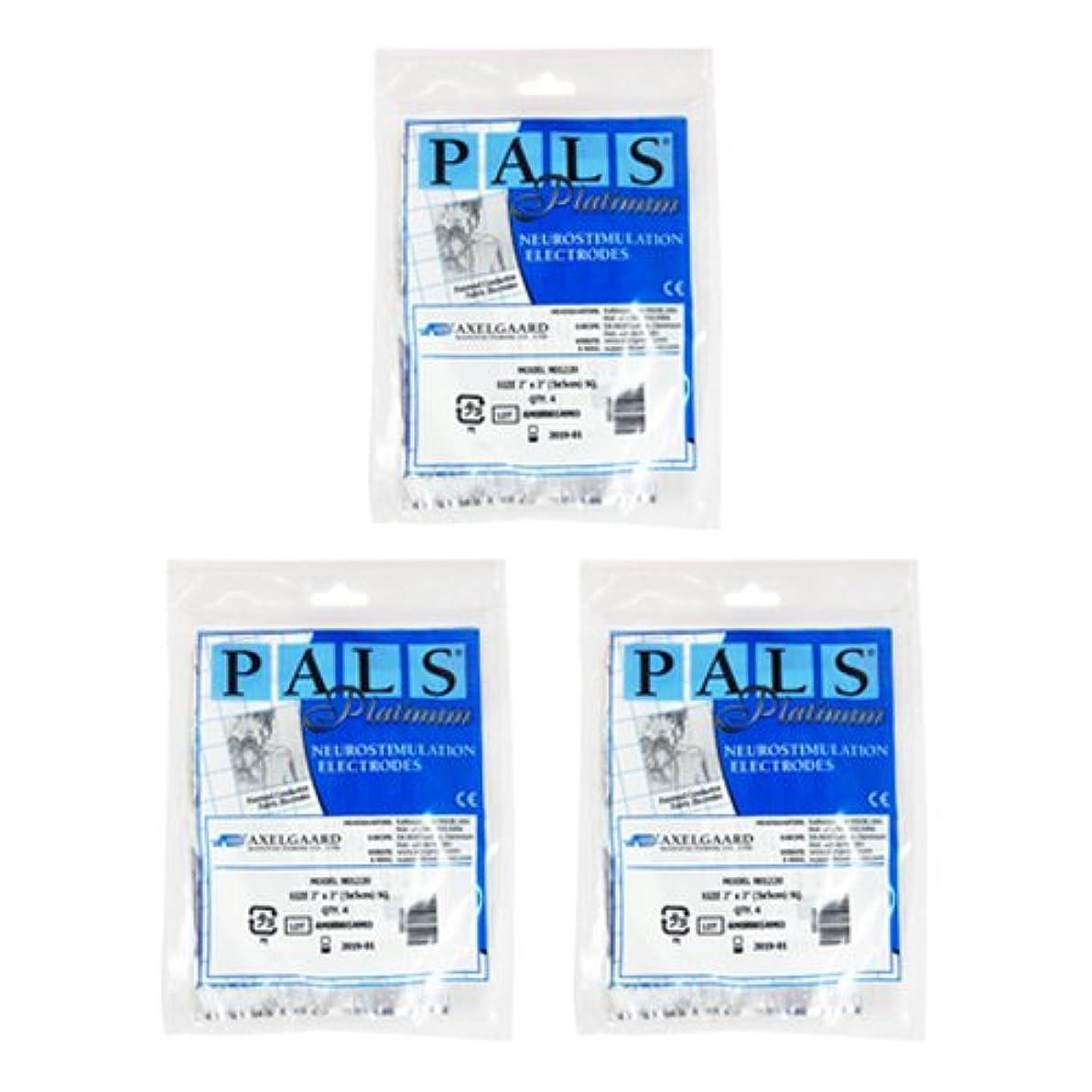 適度な飲み込む要塞敏感肌用アクセルガード ブルー Mサイズ × 3セット 【EMS用粘着パッド】