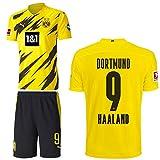 PUMA Borussia Dortmund BVB Heimset 2020 2021 Home Kit Sponsor BL Logo Kinder Erling Haaland 9 Gr 176