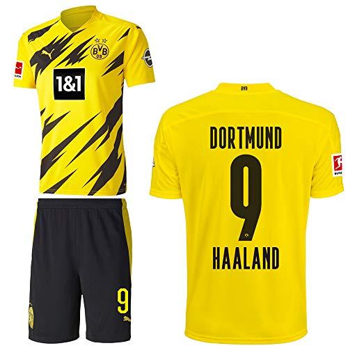 PUMA Borussia Dortmund BVB Heimset 2020 2021 Home Kit Sponsor BL Logo Kinder Erling Haaland 9 Gr 164