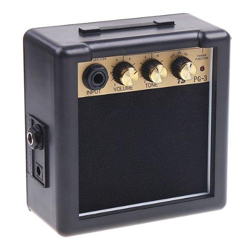 ammoon Mini Guitar Bass Ukulele Ukelele Amp Amplifier Speaker (Black)