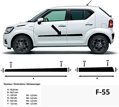 Spangenberg Seitenschutzleisten schwarz für Suzuki Ignis III Typ MF ab Baujahr 10.2016- F55 (370005501)