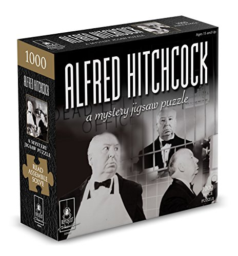 Paul Lamond Games-Classic Mystery Jigsaw Puzzle-Alfred Hitchcock Misterioso, Color Negro, 1000 (Hansen 7215)