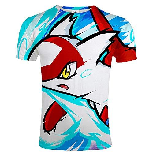 Preisvergleich Produktbild U / A Herren-T-Shirt,  kurzärmelig,  für den Sommer,  3D-Digitaldruck mit Poker Gr. L,  Fünf