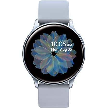 SAMSUNG Galaxy Watch Active 2 (44mm, GPS, Bluetooth) Smart Watch with Advanced Health Monitoring, Fitness Tracking, and Long lasting Battery, Silver (US Version)