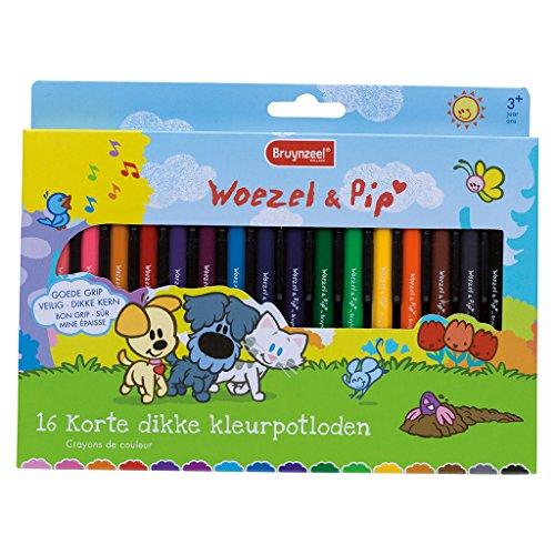 Bruynzeel 2105KWP Woezel en Pip 16 dikke potloden, schrijfwaren