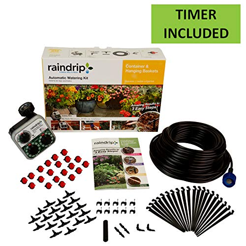 Raindrip R560DP Automatic Watering Kit for Container and Hanging Baskets, Water up to 20 plants with...