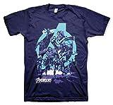 Photo de Avengers Officiellement sous Licence Thanos Grip Endgame T-Shirt pour Hommes (Bleu Marine), X-Large