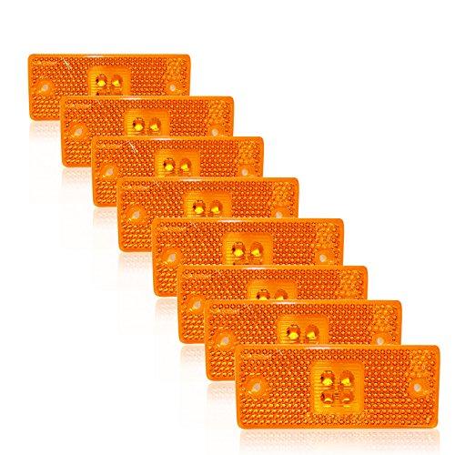 A1 8 X 4 SMD LED24V Positionsleuchte Umrißleuchte Begrenzungsleuchte LKW PKW Orange