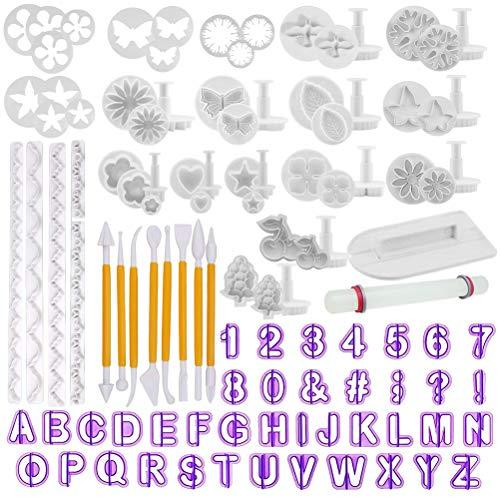 TIMESETL 108Pcs Herramientas de decoración de Pasteles