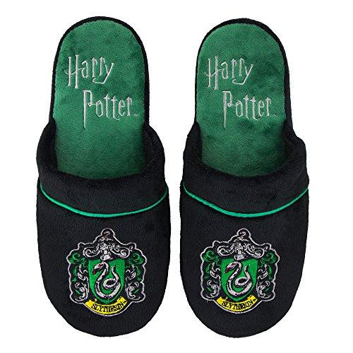 Cinereplicas Chaussons Pantoufles Harry Potter - Officiel - Haut Confort et Qualité - Semelle Pillow Walk - Adulte (M/L, Serpentard)