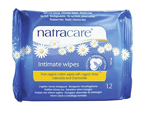 Natracare - Toallitas Higiene Íntima Femenina Natracare 12 uds