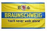 Flaggenfritze® Fanflagge Braunschweig - You'll never walk alone - 90 x 150 cm
