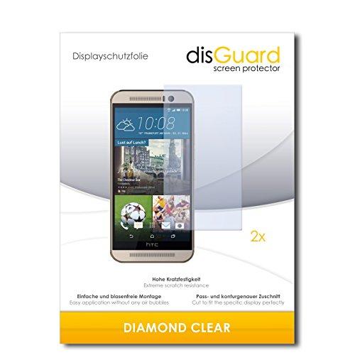 disGuard 2 x Bildschirmschutzfolie HTC One M9s Schutzfolie Folie DiamondClear unsichtbar