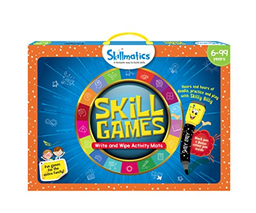 Skillmatics Educational Game: Skill Games (6-99 Years), Erasable and Reusable Activity Mats with 2 Dry Erase Markers, Learning Tools for Boys and Girls 6, 7, 8, 9 Years
