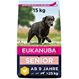 Eukanuba Hundefutter mit frischem Huhn für große Rassen, Premium Trockenfutter für Senior Hunde,...