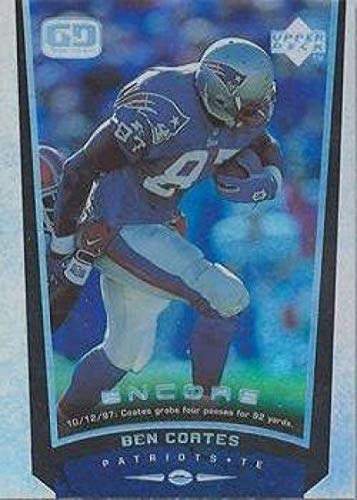 1998 Upper Deck Encore Football #97 Ben Coates New England Patriots Official NFL Trading Card From The UD Company