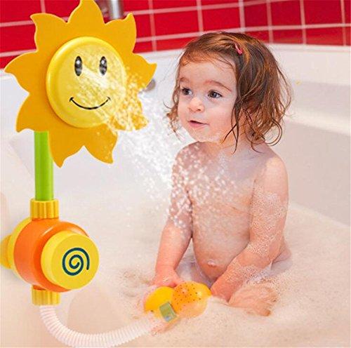 Sotoboo Juguetes de Baño para bebé, Girasol, Cabezal de Ducha, Juguetes de Juguete de Baño para Bebés, Niñas, Niños y Niños
