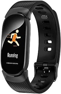 HOLACZES QW16 Reloj Multifunción, Rastreador De Actividad Física IP67, Monitor De Sueño, Oxígeno, Presión Arterial, Frecuencia Cardíaca, Recordatorio De Llamada/Mensaje, Pulsera Inteligente
