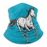 XCVD Sciarpa fascia antivento per protezione solare antivento per scaldacollo in microfibra cavallo unisex in filigrana per esterno