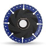 DT-DIATOOL Disco Diamantato 115 x 22,23 mm Lama per Sega Universale per Cemento Armato Metallo Alu Rebar Ferro PVC Tutti i Materiali Resistenti